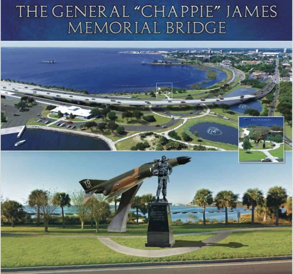 "The Gernal ""Chappie"" James Memorial Bridge in Pensacola FL, to open in June."